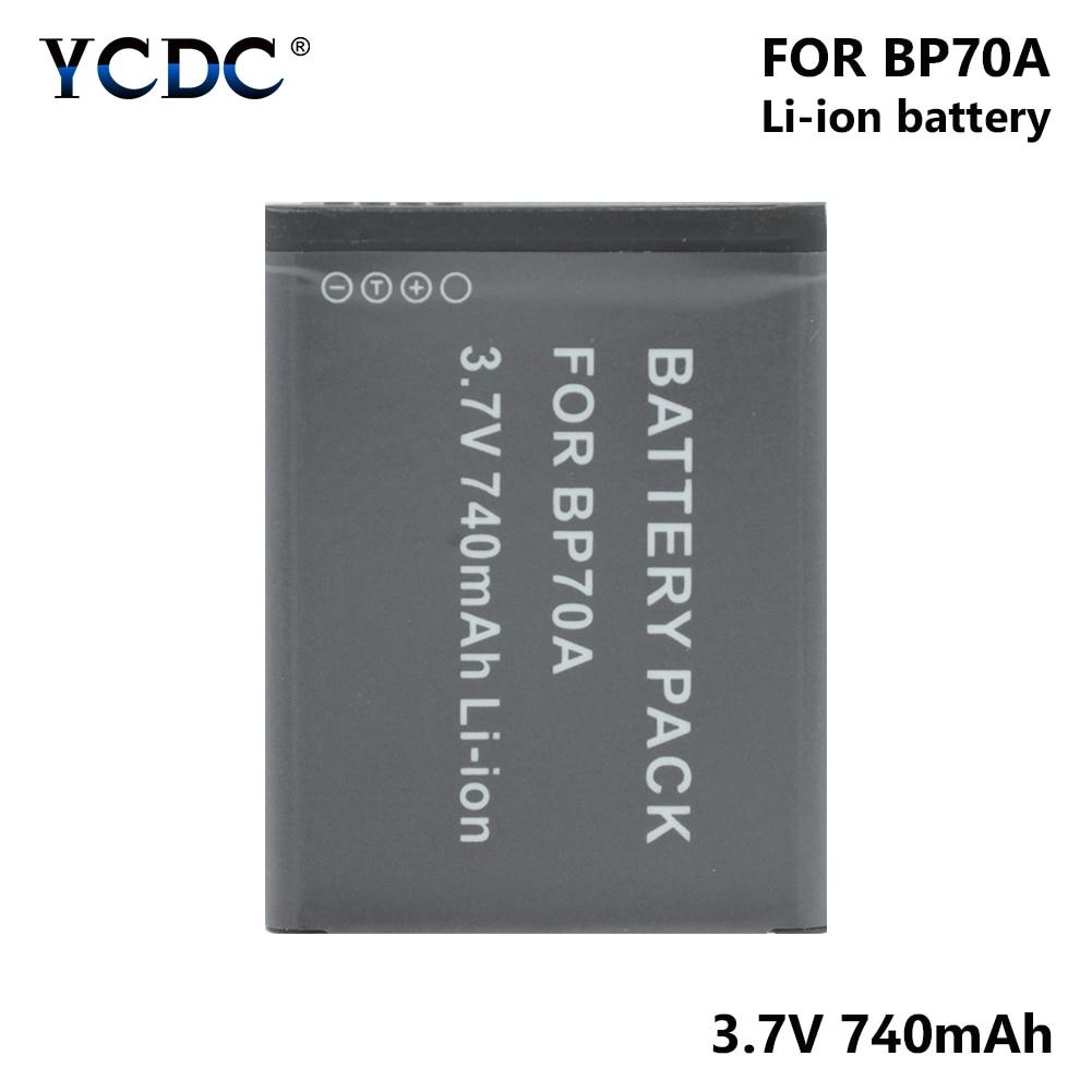 1/2x 3.7V 740mAh Lithium Camera Batteries For Samsung TL105 TL110 TL125 TL205 WB30F WB35F WB50F WB51F WB52F WP10 DV50 DV90 PL20