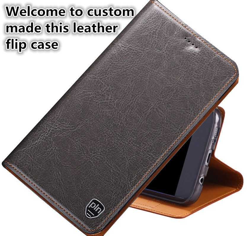 CH05 genuine leather flip case with card holder for font b OnePlus b font font b
