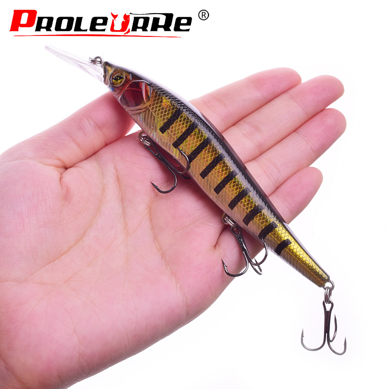 1Pcs Minnow Hard Fishing Lure Wobblers 135mm 16g Crankbait Swimbait With Treble Hooks Artificial Bait Fishing Tackle PR-570