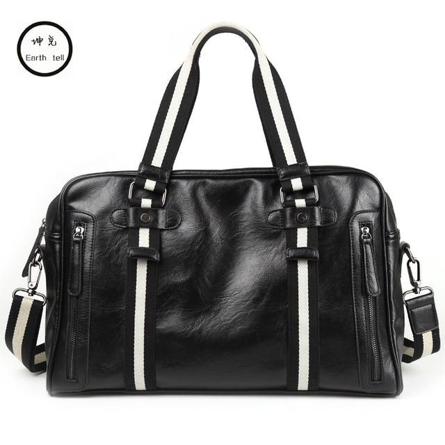 0c84772c0c Fashion Men s Travel leather handbag Brand Business luggage Waterproof  suitcase duffel bag Large Capacity Laptop casual Bags