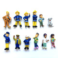 12Pcs/Lot Fireman Sam 3-6CM PVC Action Figures Models Collections Toys For Kids Gift