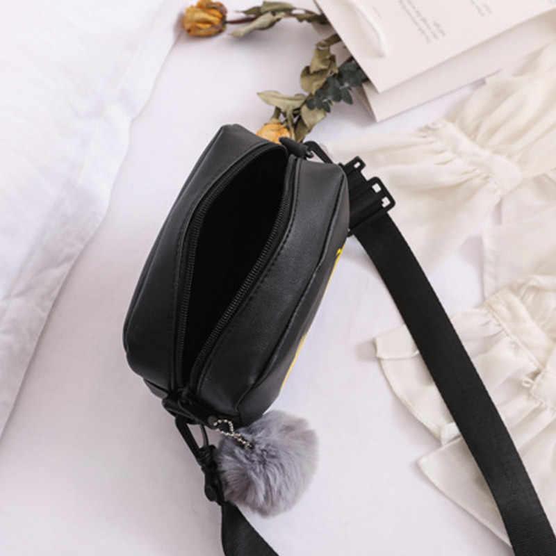 1 Pcs Wanita Bahu Tas Selempang Kuning Bebek PU Kulit untuk Ponsel Uang Terbaik Dijual-LT88