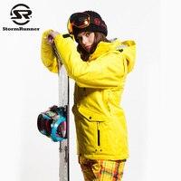 StormRunner Snow Ski Jacket Women Winter Warm Jacket Thick Jacket For Girls Free Shipping Outdoor Sport 2018 Windproof