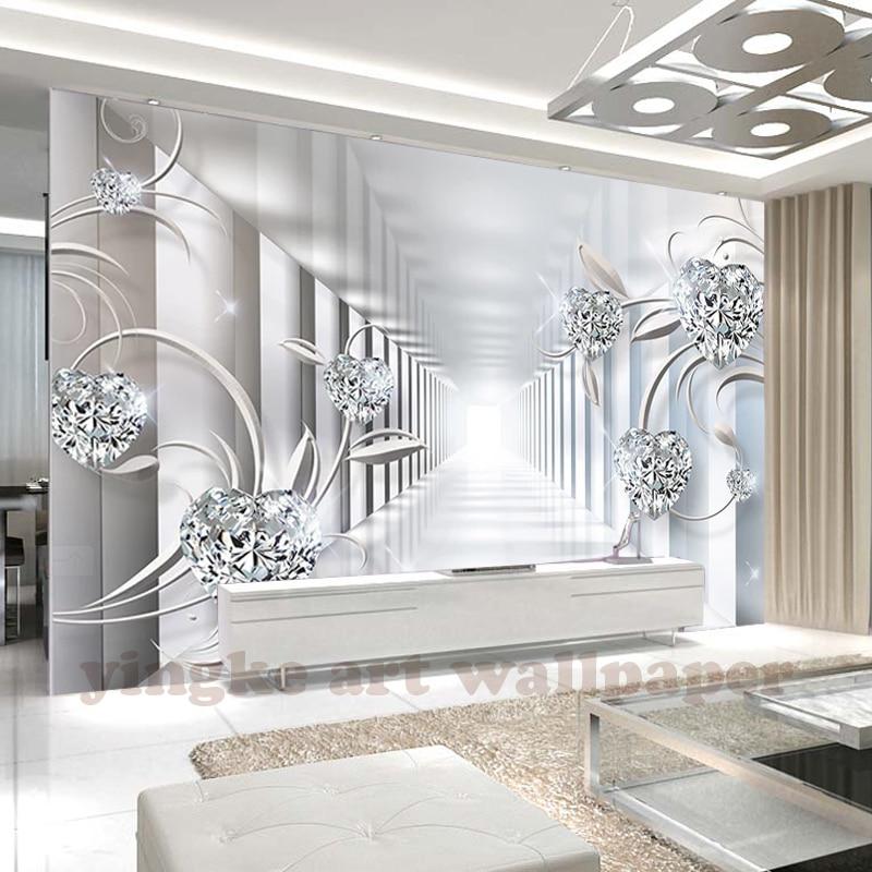 3d wallpaper custom mural non-woven 3d room wallpaper 3d abstract space Europe flower jewel flicker photo wallpaper for walls 3d