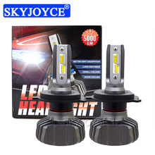 SKYJOYCE H4 LED Headlight Bulb H7 LED H1 H11 9005 HB3 9006 HB4 ZES Chips 50W 10000LM 6500K Car Light Auto LED Headlamp Bulbs 12V(China)
