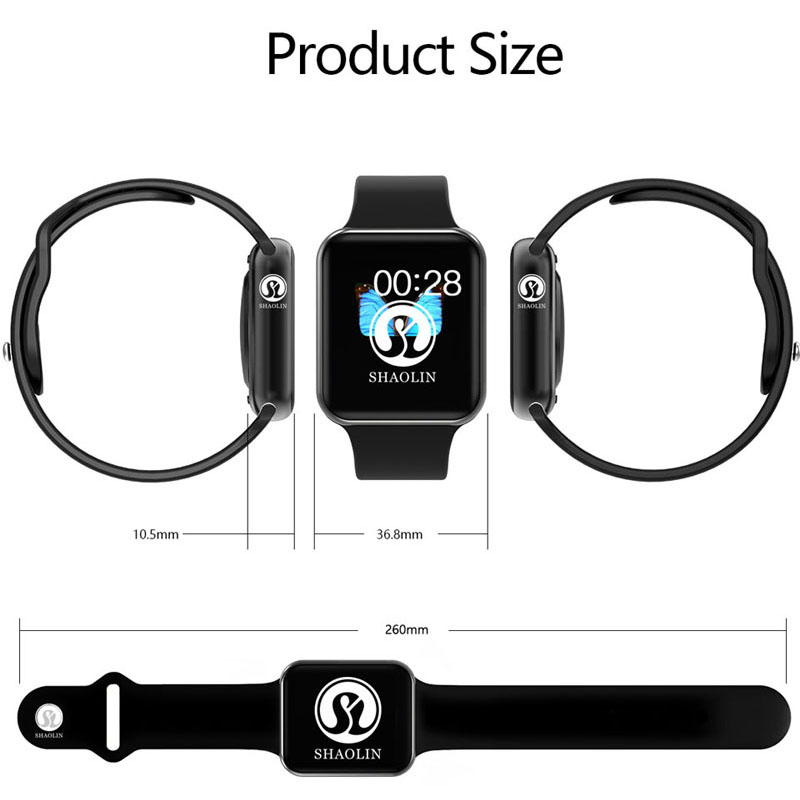 Reloj inteligente Serie 4 reloj inteligente para Apple iOS iPhone Android reloj de pulsera deportivo Bluetooth pulsera Fitness Tracker (botón rojo) - 4