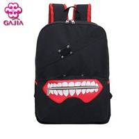 New Style High Quality Anime Tokyo Ghoul Oxford Unisex Cartoon Hot Soild Luxurious Softback Zipper Backpack