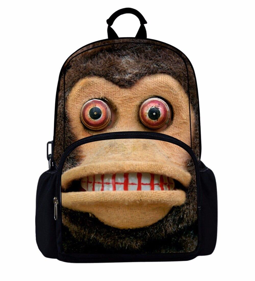 Noisydesigns 2018 Newest Happy Satchels Cartoon monk Cute School Bags for Childrens Backpacks for Teen Girls Book Sac Mochila