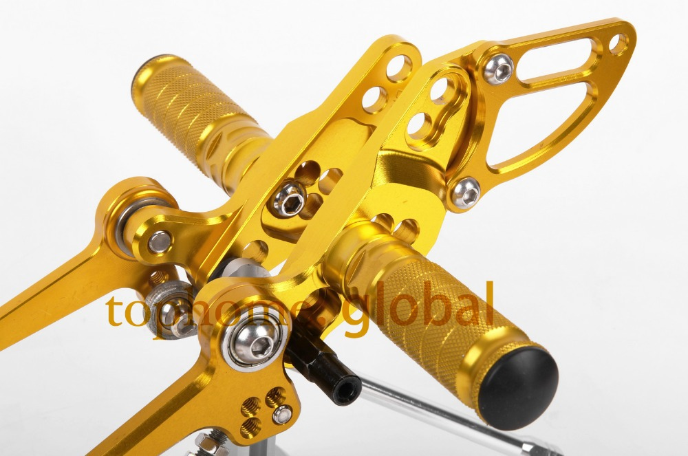 Adjustable Motorcycle Parts CNC Foot Pegs For DUCATI STREETFIGHTER 848  Golden color Rear Set