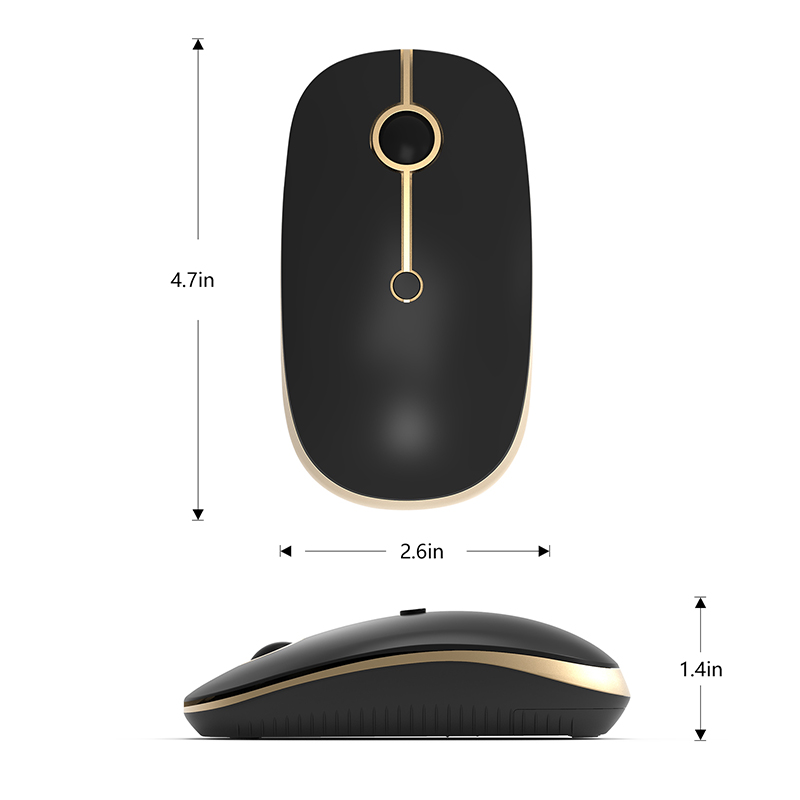 Jelly Comb Dual Modes 4.0 Bluetooth & 2.4GHz USB Nano Receiver Wireless Mouse for PC Laptop 2400 DPI Gaming Mouse Silent Mice