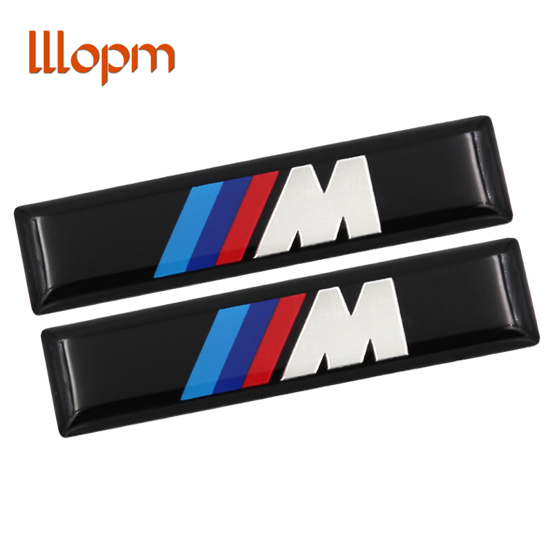 NEW 2pcs M M3 M5 Motorsport Metal Logo Car Sticker Aluminum Emblem Grill Badge for BMW E34 E36 E39 E53 E60 E90 F10 F30 M3 M5 M6 for bmw 5 series e12 e28 e34 e39 e60 e61 f10 f11 f07 523i 528i 525i chrome number letters rear trunk emblem badge sticker