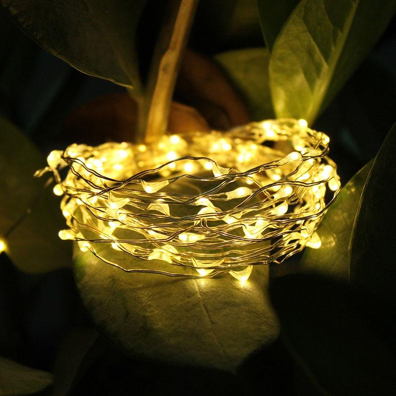Feimefeiyou 100LED batería a prueba de agua led de cobre hilo de - Iluminación de vacaciones - foto 4