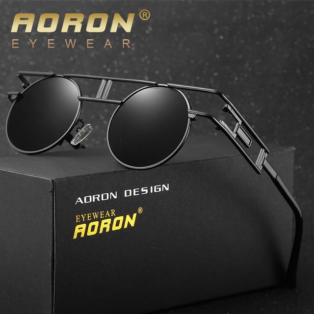 befe806cdf AORON Brand Original Box Polarized Sunglasses Men Women Designer Round  Mirror Glasses oculos Gafas De