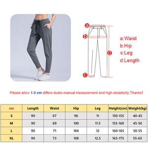 Image 2 - หญิงกีฬากางเกงไนลอนQuickแห้งกางเกงวิ่งกางเกงโยคะพ็อกเก็ตหลวมBreathableสตรีJogging