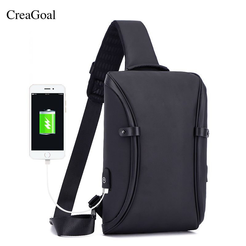 Fashion Casual Men Crossbody Bag Male USB Charging Chest Packs Waterproof Pockets Bag Shoulder Messenger Fold Over Bag Bolsas sikote fold cooler bag chair insulation lunch box tote bag waterproof crossbody food picnic bag lancheira termica marmitas