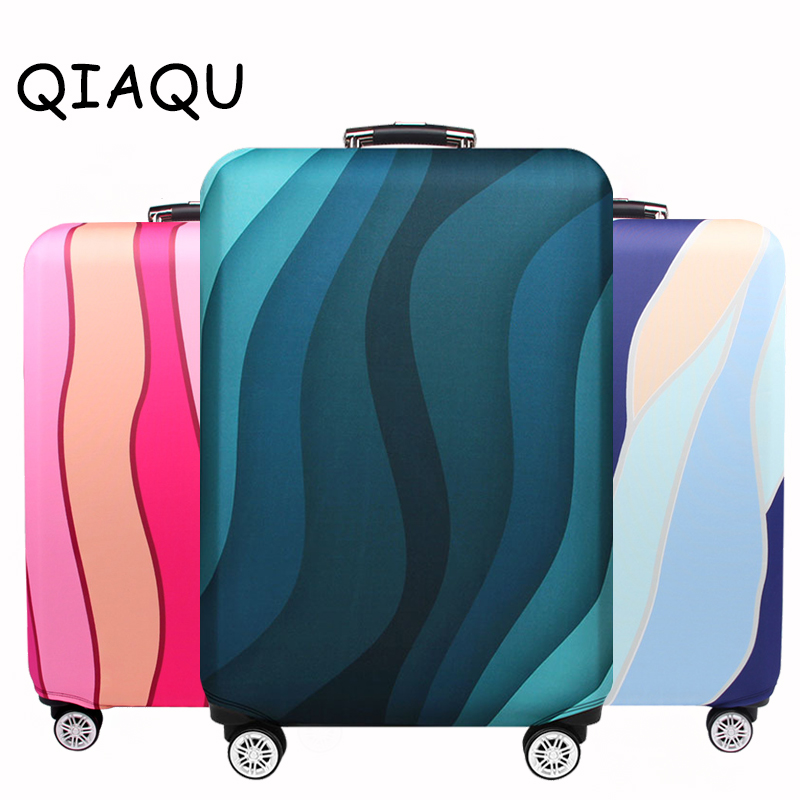 QIAQU Travel Elastic Luggage Protective Cover Thicker Suitcase Dust Protect Bag For 18-32inch Travel Baggage Trolley Accessories