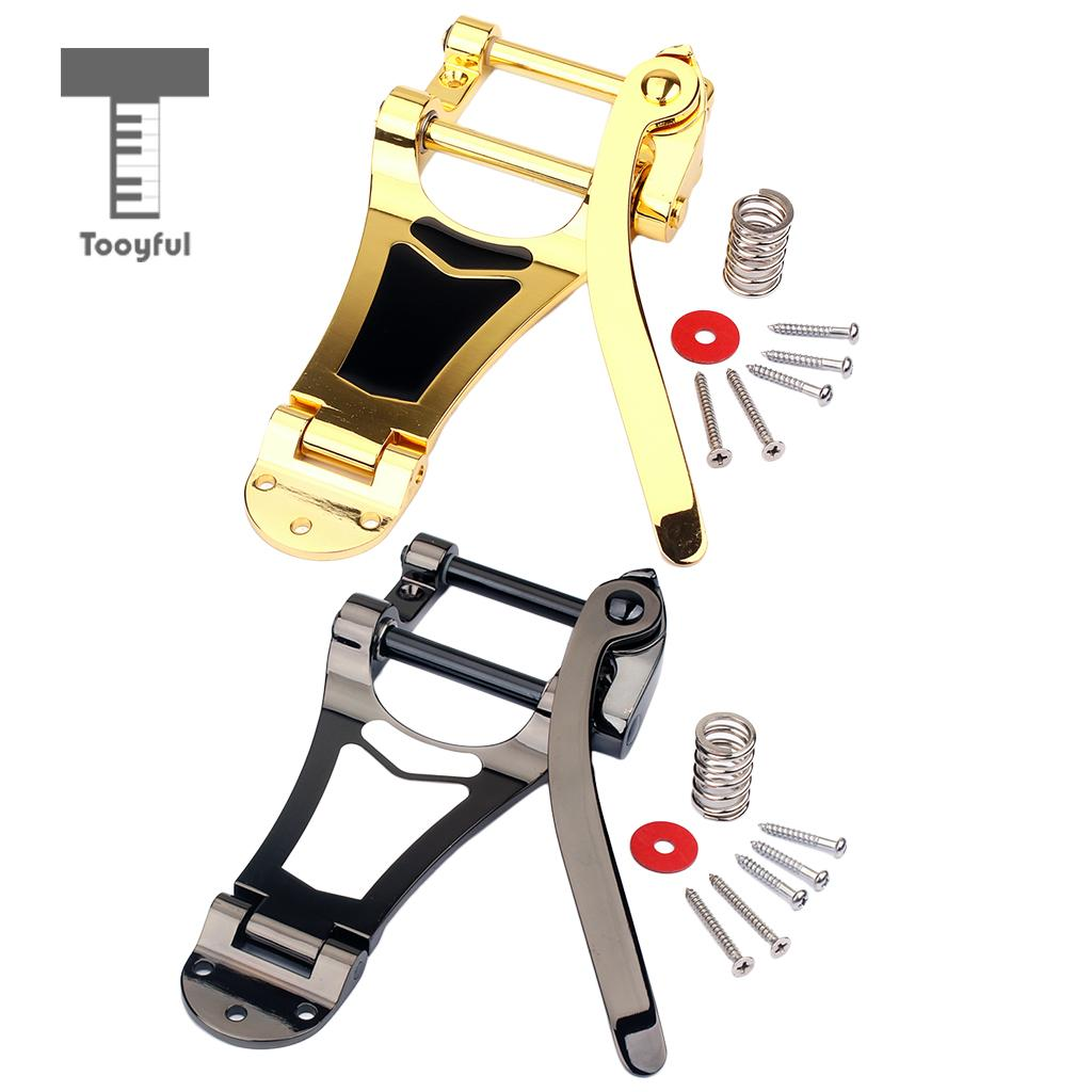Tooyful Replacement Parts Tremolo Vibrato Bridge Tailpiece Semi-Hollow for LP Archtop Jazz Guitar Accs floyd rose electric guitar duplex shake chrome plating silvery zinc alloy vibrato bridge system tailpiece vibrato device yy