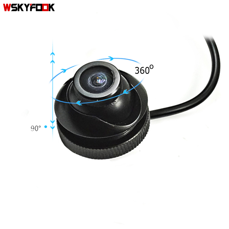 cheapest 600L CCD 180 degree camera Fisheye LENS wide angle Rear Front side view reverse backup camera 360 rotato night vision waterproof