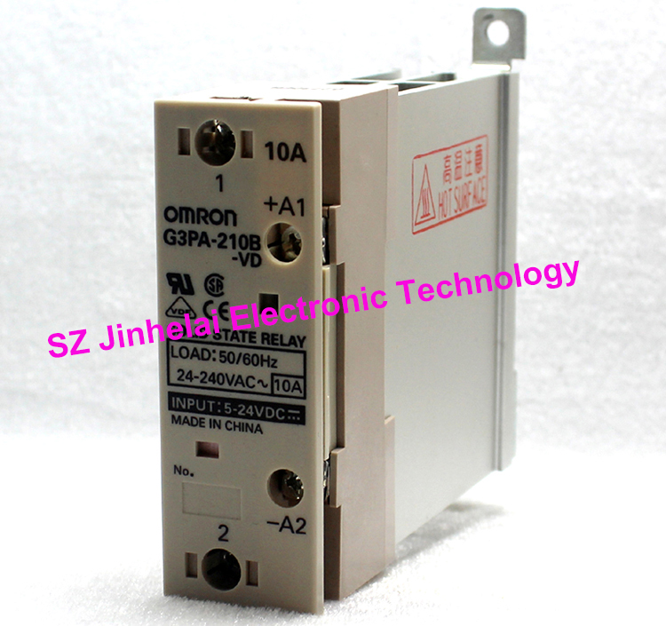 Authentic original G3PA-210B-VD OMRON Guide rail type solid state relay 10A 5-24VDC DC5-24V
