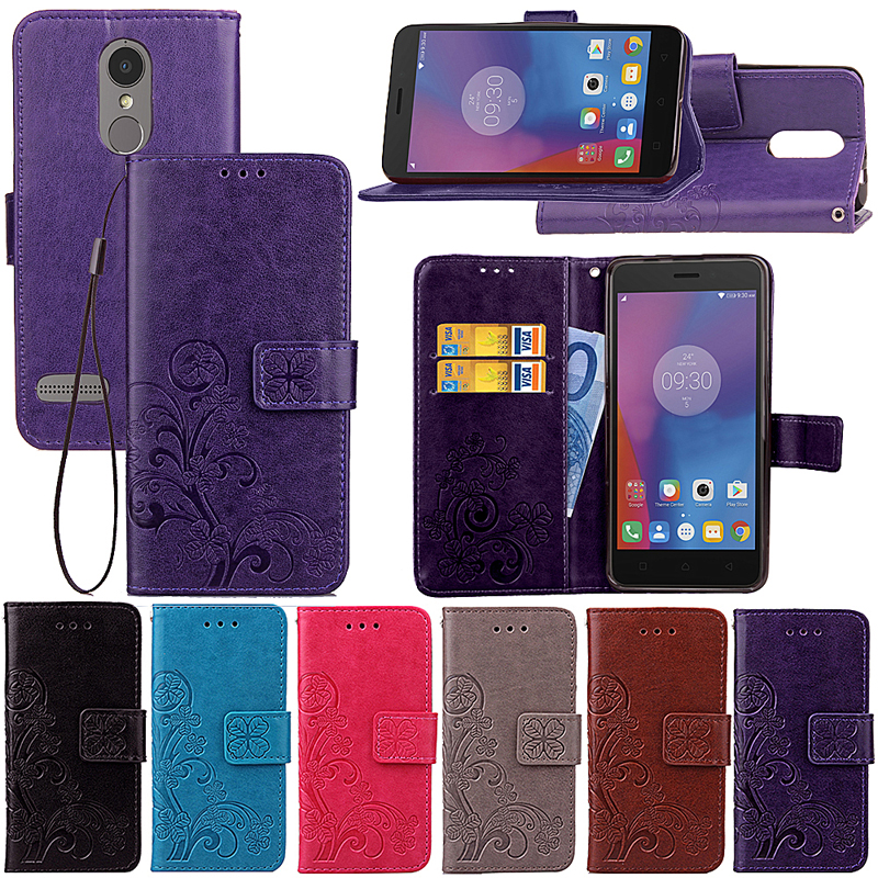 For Flip Wallet Case Lenovo K6 Leather Case Soft Silicone Cover Stand Phone Bag For Lenovo Vibe K6 K 6 Fundas 5.0 inch