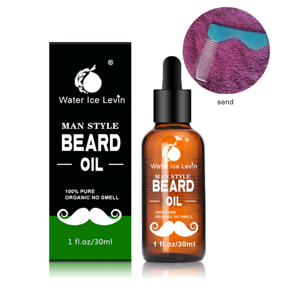 30ml Men Beard Oil for Styling Smoothing Mustache Growth Care Conditioner Softener Facial Grooming Gentle Men Beard Beauty Care