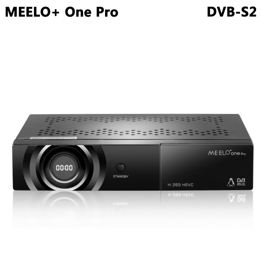 MEELO + UN PRO 1080 p Full HD DVB-S2 Satellite Récepteur H.265/HEVC/AVC Linux Sam Support du Récepteur youTube Cccam IPTV WEBTV NOUVEAU CAM