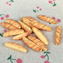 10Piece Flat Back Resin Cabochon Artificial Miniature Fake Food Bread Flat Back DIY Embellishment Scrapbooking Decoration