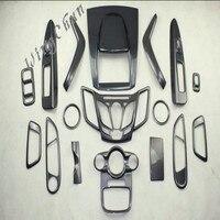 DIY салона планки Запчасти углеродного волокна цвет и декоративные личности для 09 13 Ford Fiesta 17 шт./компл.