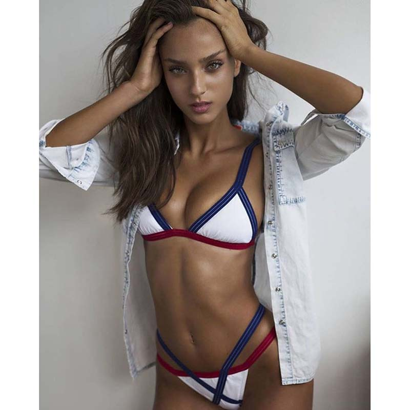 Sexy Bandage Brazilian Bikinis 2017 Swimwear Swimsuit Women Bikini Push Up Bikini Set Ladies Biquini Bathing Suit XL maison scotch рубашка maison scotch 133 1621 0120131137 03