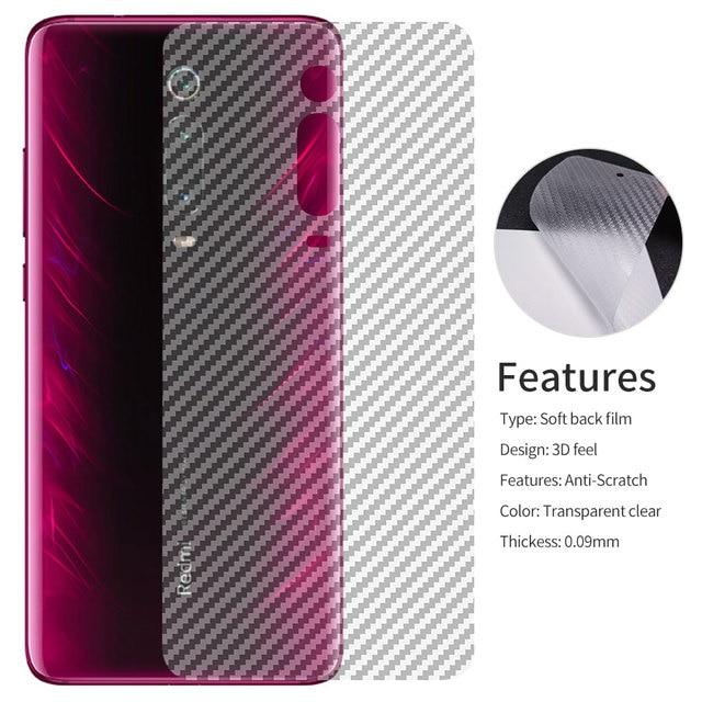 Carbon Fiber Back Screen Protector Film For Xiaomi Mi 9T 9 SE A2 Lite Poco Pocophone f1 Redmi K20 Note 7 6 5 Pro Sticker mix 3