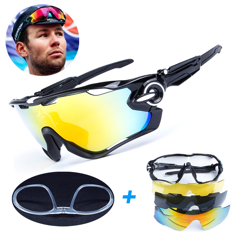 4 Lens Brand New Jaw Outdoor Sports Cycling Sunglasses Eyewear TR90 Men Women Bike Bicycle Cycling Glasses Goggles gurensye brand new design big frame colourful lens sun glasses outdoor sports cycling bike goggles motorcycle bicycle sunglasses