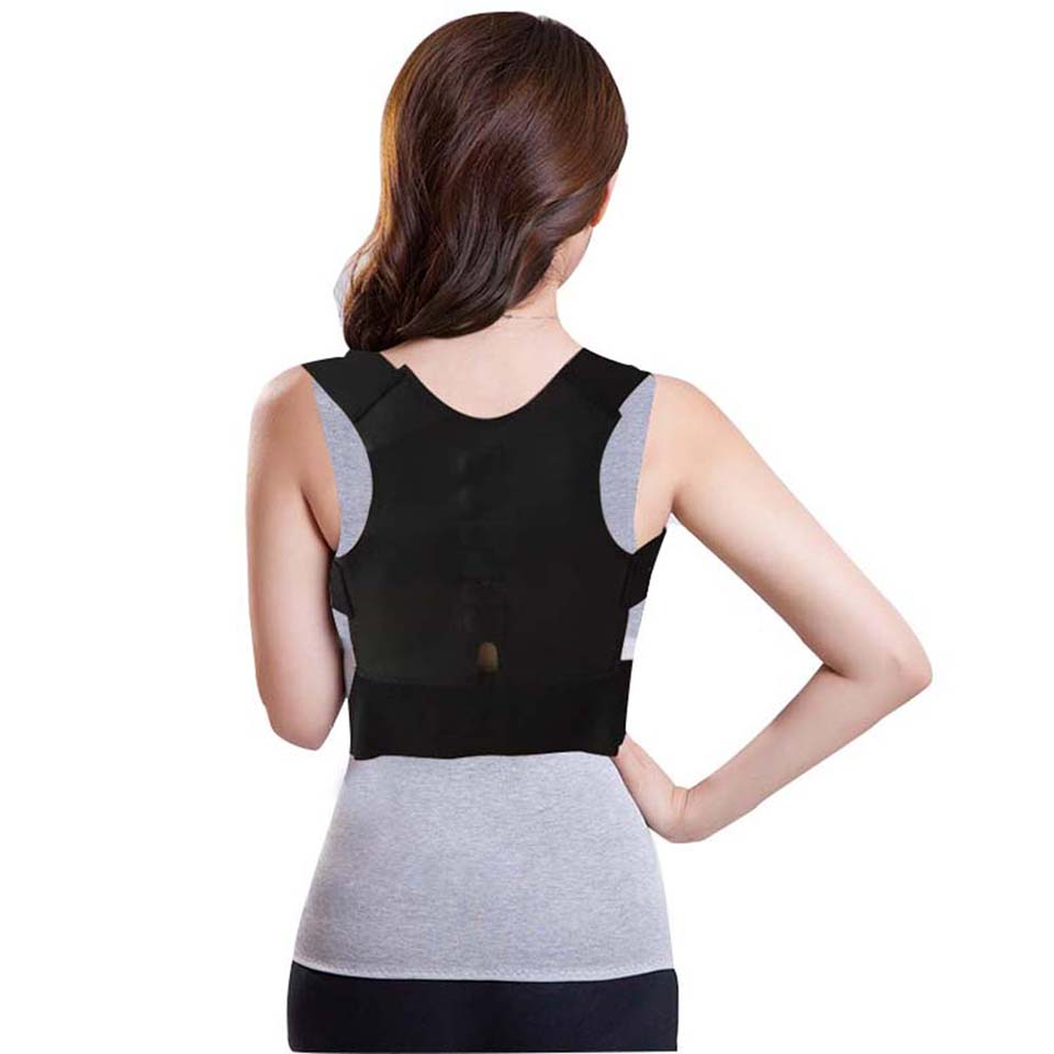 Adjustable Rectify Back Posture Corrector Brace <font><b>Humpbacked</b></font> Prevent Back Shoulder Support Belt Posture Correction Therapy Belt image