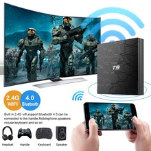 лучшая цена 2019 T9 tv box android 8.1 WIFI 4GB 64GB 32GB TV Box Bluetooth 4.0 RK3328 Quad Core 4G 32G Smart tv box Set Top android 8.1 Box
