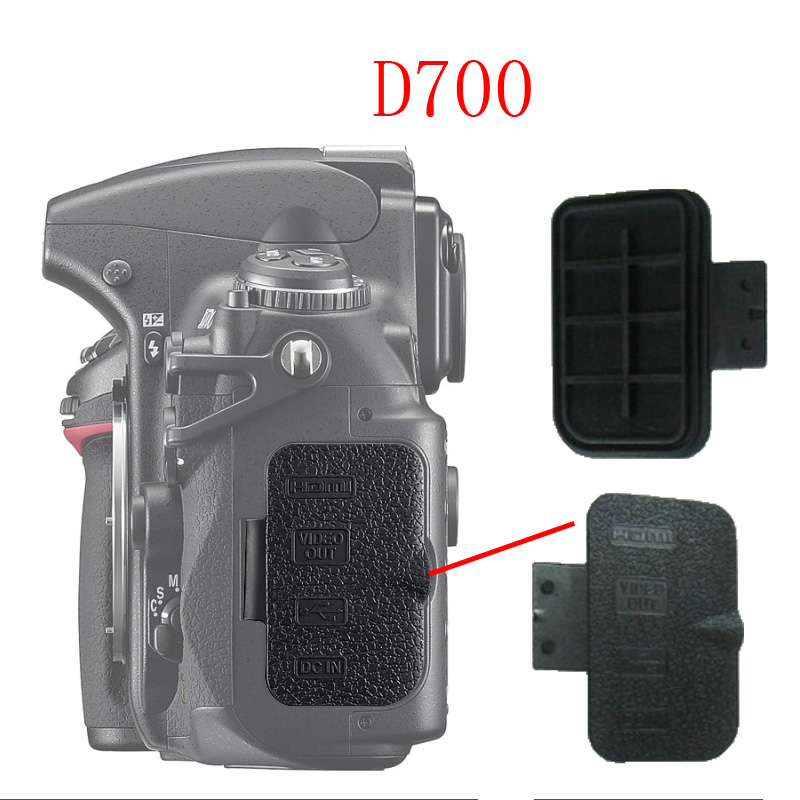 10-100pcs For <font><b>Nikon</b></font> <font><b>D700</b></font> Export data cover Back cover <font><b>Rubber</b></font> DSLR Camera Replacement Unit Repair Part image