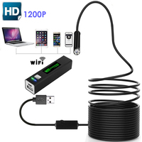 1200P HD Endoscope Inspection Camera Softwire Rigid Hardwire Endoscope Wifi Borescope Snake Video Camera For Iphone