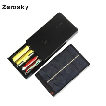 Zerosky 1W 4V Solar Cell Chargers For AA AAA Rechargeable Battery 115 68mm Polycrystalline Solar Panel