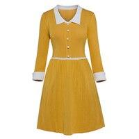 Sisjuly Women S Casual Sweater Dress Long Sleeve Polo Neck High Waist Color Block 2017 New