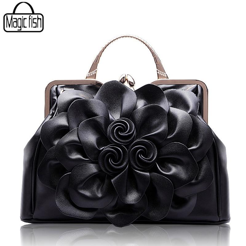 Новая мода большой цветок Для женщин сумки известных брендов Дизайн женский Tote Роскошные Для женщин Сумки Леди Tote Чехол кожаный Сумки c0502a