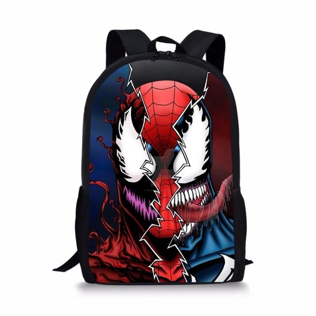 7bfd56d5b2 Cool Comics spiderman Venom Backpacks School Bags SchoolBags for girls boys  orthopedic packbag mochila escolar book