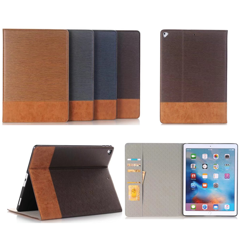 For Funda iPad Pro 12.9 2017 Case Patchwork Cross Pattern Wallet Folio Flip Stand Magnetic Card Slot Leather Cover Sleep Wake UP genuine split leather magnetic credit card wallet style folio stand case for iphone 5 5s green