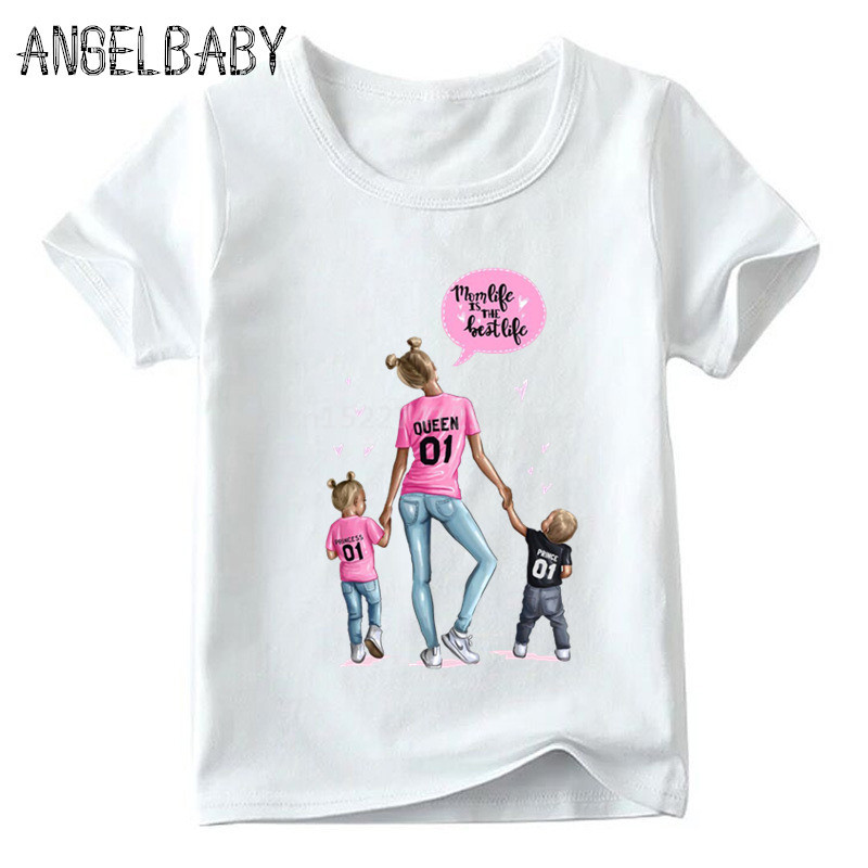 Одинаковые комплекты для семьи футболка для мальчиков и девочек с принтом супермамы и дочки одежда для подарка на День Матери Забавные футболки для детей и женщин