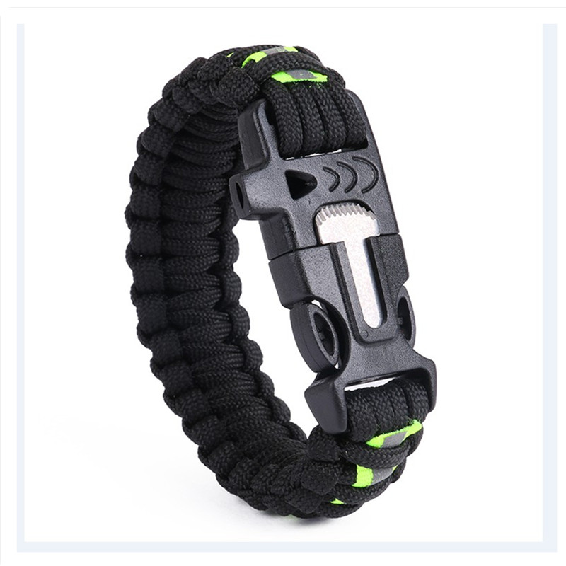 Us 2 45 51 Off Outdoor Emergency Survival Bracelet Climbing Hiking Reflective Whistle Multifunction Paracord In From
