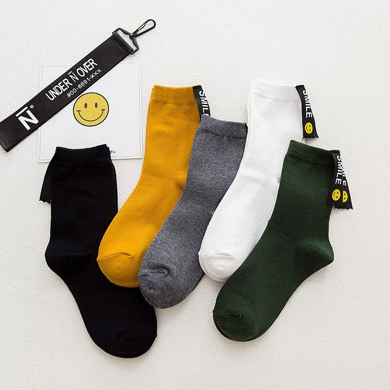 Winter Cotton socks labels lolita fashion korean sock girls women winter gift christmas funny crew socks uniform 2017 femme
