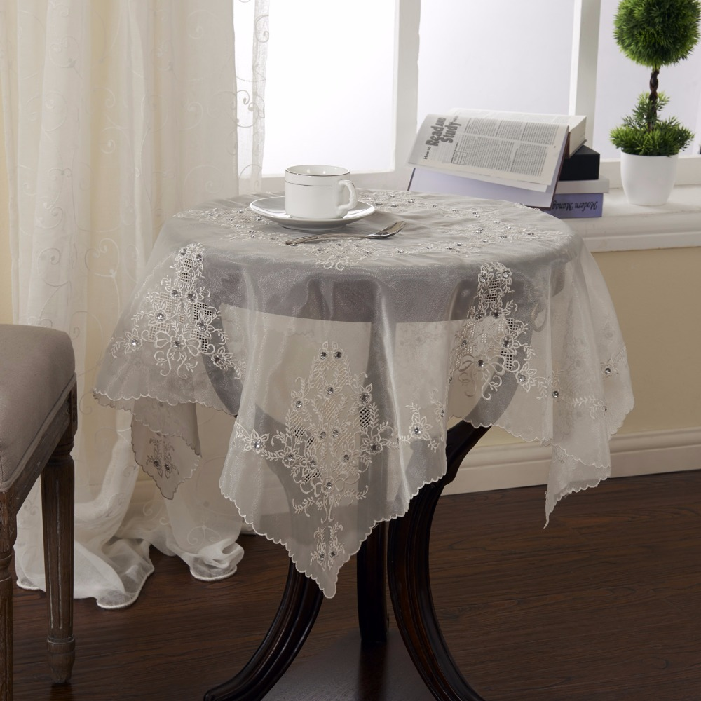 Buy embroidery tablecloth 36x36 inches for 85 inch tablecloths