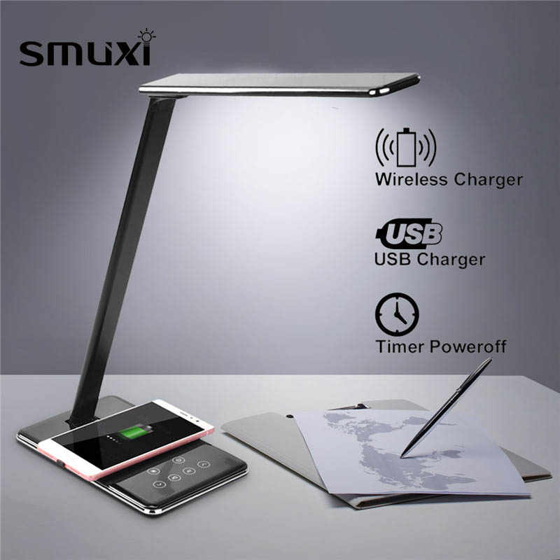 Multifunction Qi  LED Lamp Table Desk Phone Wireless Charging Pad Cell Phone Charger Holder Stand Foldable Desktop Light for X8