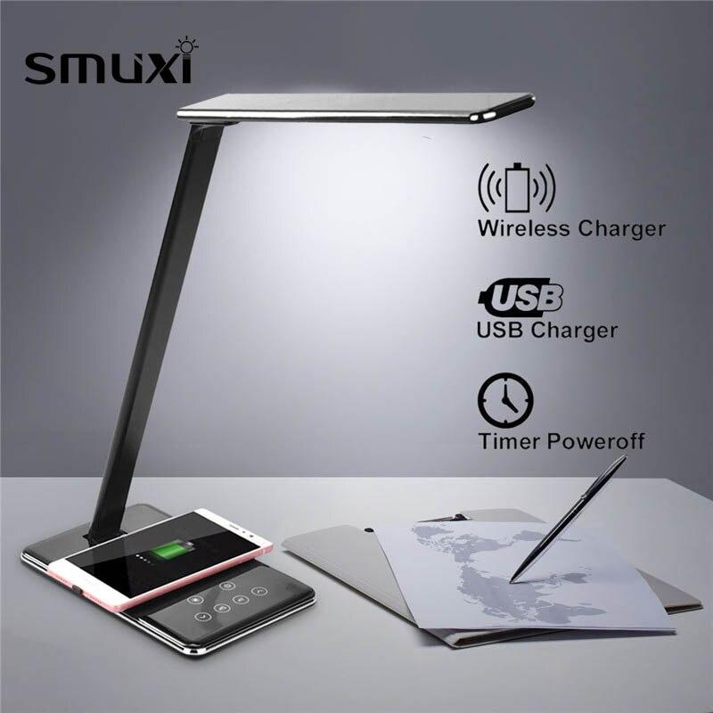 Multifonction Qi lampe à led Table téléphone de bureau chargeur sans fil téléphone portable support de chargeur Stand bureau pliable Lumière pour X8