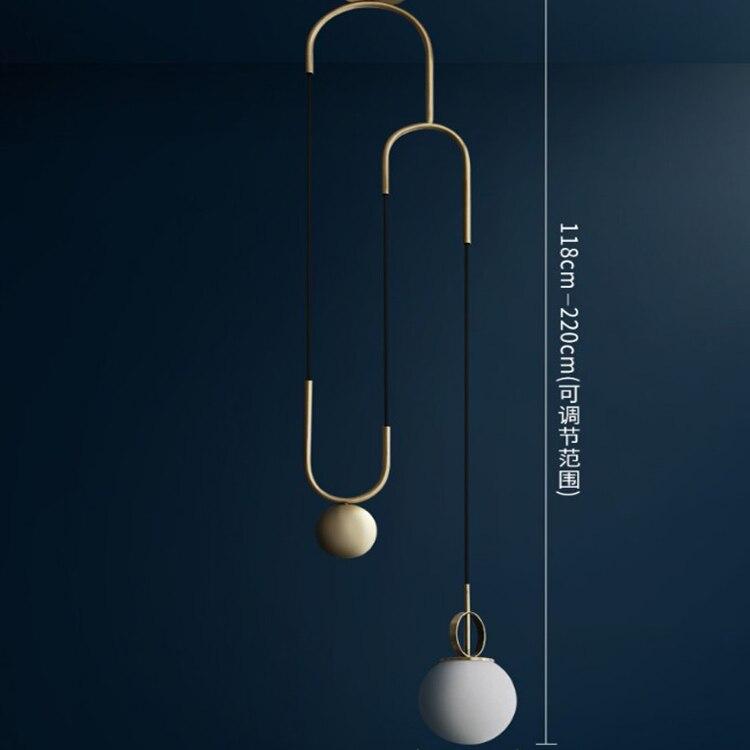 Anneau de fer moderne pendentif lumières boule de verre blanc CafeRoom/lampe de barre lampes suspendues en verre unique décoration éclairage intérieur E27