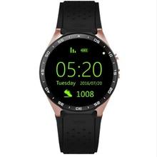 GREZOO KW88 Relógio Inteligente 1.39 Polegada MTK6580 Quad Core 1.3 GHZ Android 5.1 3G Monitor de Freqüência Cardíaca Relógio Inteligente 400 mAh 2.0 Mega Pixel