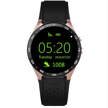 GREZOO KW88 Smart Watch 1.39 Inch MTK6580 Quad Core 1.3GHZ Android 5.1 3G Smart Watch 400mAh 2.0 Mega Pixel Heart Rate Monitor