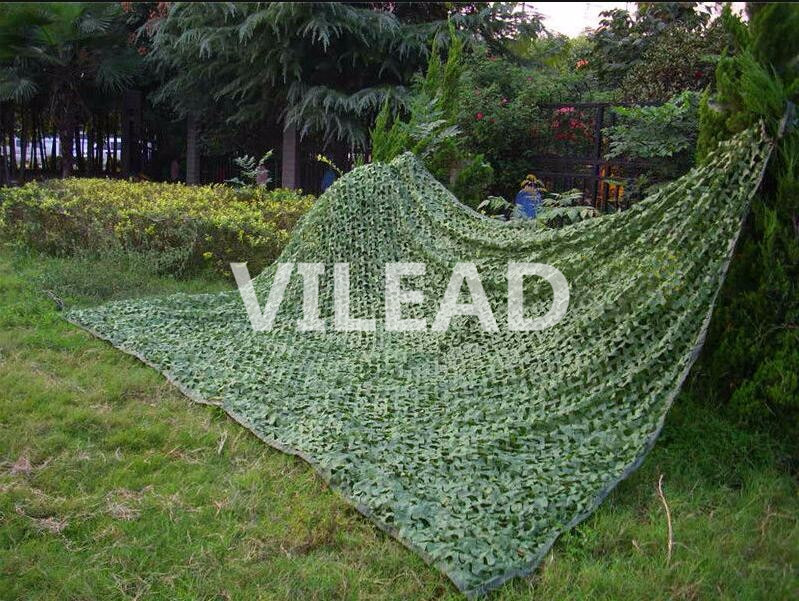 VILEAD 2.5M*10M Filet Camo Netting Green Digital Camouflage Mesh Netting For Outdoor Sun Shelter Jungle Shade Roof Decoration vilead 10m 33ft wide sea blue digital camouflage net military army camo netting sun shelter shade net for hunting camping tent